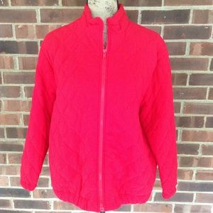 NWT vintage Susan Graver red quilted jacket